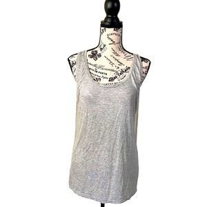 Majestic Fultures shimmer tank top grey s